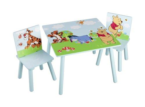 Winnie-the-Pooh-Kleiner-Tisch-und-Sthle-Blau