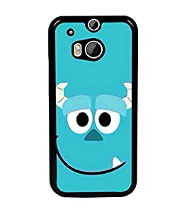 PrintDhaba Smiley D-2005 Back Case Cover for HTC ONE M8 (Multi-Coloured)