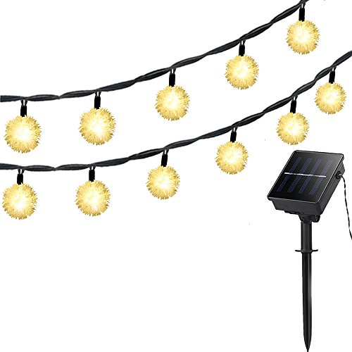 Solar Outdoor String Lights, 50 LED 23ft 1