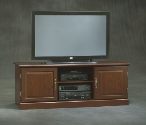 Classic Cherry Widescreen TV Stand Heritage Hill Classic Cherry Collection by Sauder Office Furnitur
