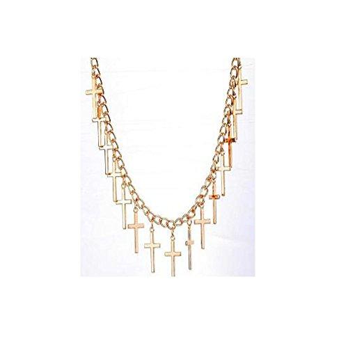 Darkey Wang Women's Fashion Wild Cross Pendant Necklace Alloy Necklace