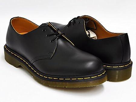 (ドクターマーチン) Dr.Martens 3EYE GIBSON SHOE #1461 3 アイ ギブソン シューズ BLACK SMOOTH 11838002 25.0(6)UK [並行輸入品]