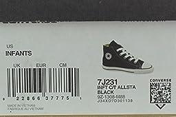 Converse Unisex Child Inft Chuck Taylor Allstar Hi Black - Black - 6 INFT