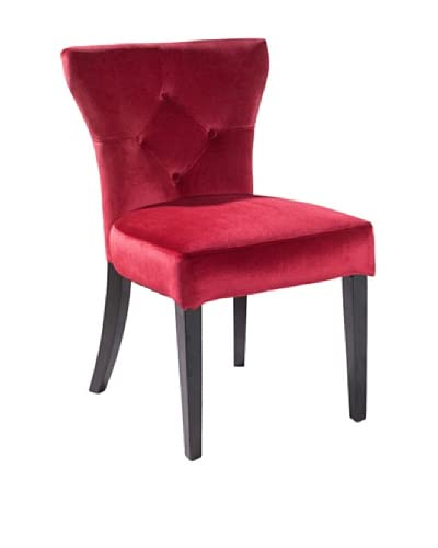 Armen Living Elise Side Chair, Red
