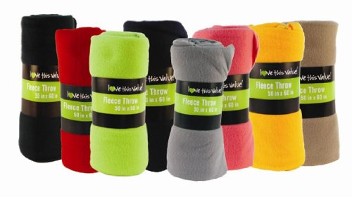 Buy Bargain Cozy 50 X 60 Fleece Blanket (Assorted) Throw