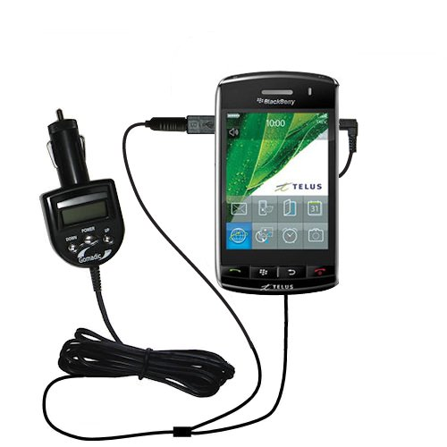 2nd Generation Audio FM Transmitter / Internet Music Adapter plus integrated Car Charger for the Blackberry Storm with Gomadic TipExchange