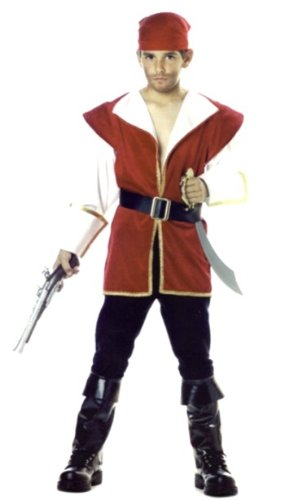 Boy's Pirate Costume - the Red Rogue