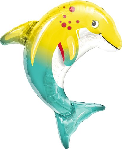 Happy Dolphin Helium Foil Balloon - 31 inch