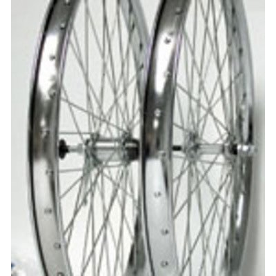 Wheel Master Front Bicycle Wheel 26 x 1.75/2.125 36H, Steel, Bolt On, Silver