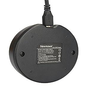 NEWMOWA CARGADOR USB DUAL PARA CANON LP-E10, EOS Rebel T3 T5 1100D 1200D Kiss X50