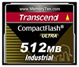 Transcend TS512MCF100I Compact Flash Industrial 512 MB Compact Flash Card