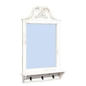cottage spiegel wandspiegel haken ablage ornament amazon. Black Bedroom Furniture Sets. Home Design Ideas
