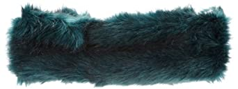 Laundry by Shelli Segal Women's Faux Fur Headband, Emerald, One Size