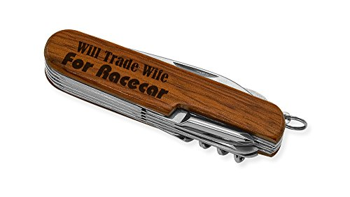 Dimension 9 Will Trade Wife 9-Function Multi-Purpose Tool Knife, Rosewood