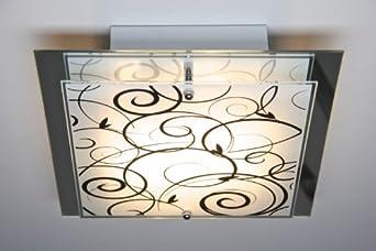 Deckenlampe mit floralem Dekor
