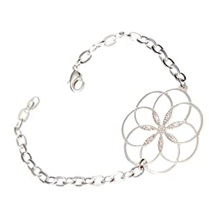 7 Rings of Peace Silver-dipped Link Bracelet