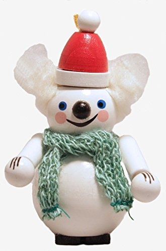 Steinbach White Ice Polar Bear with Hat and Scarf German Wooden Christmas Orn...