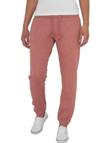Urban Classics - Bekleidung Ladies Melange Sweatpants, Mutande Donna, Rosso (Ruby), X-Large (Taglia Produttore: X-Large)