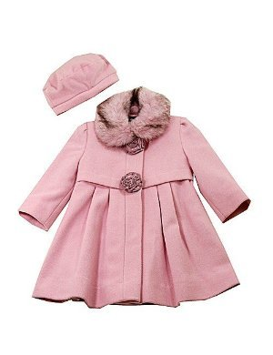 Buy Low Price Rothschild Girls Wool Rose Coat & Beret, a Girls Coat by Rothschild