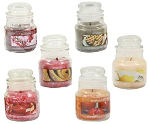 Temptations Scented Candle 3.2oz In Glass Jar 9cm - Set Of 6 by PinkWebShop