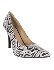Inara Snake Print High Heel Pointed Toe Closed Back Leather Shoe IN-1025