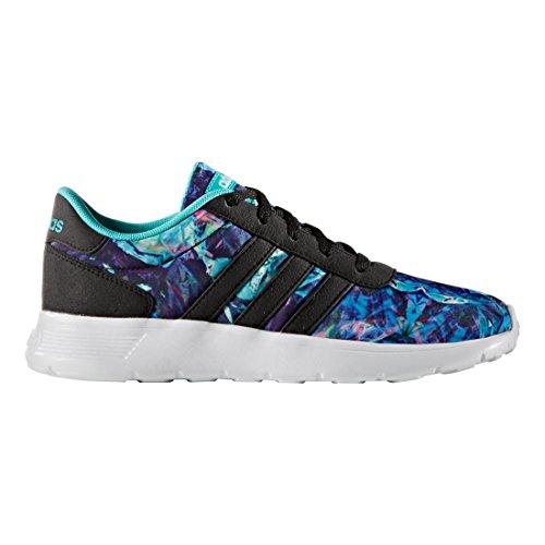 adidas NEO Boys' Lite Racer K Sneaker, Black/Black/White, 5 M US Big Kid