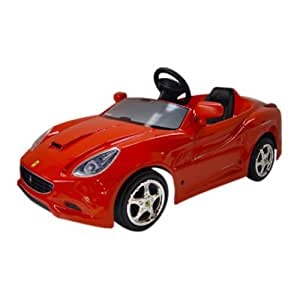 Big Toy USA Toys Toys Ferrari California Battery Powered Riding Toy, Red, Plastic, 12 Volt