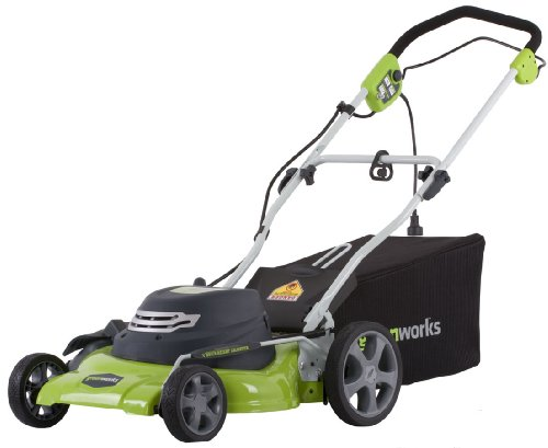 Greenworks 25022 20-Inch 12 Amp Electric Bag/Mulch/Side Discharge Lawn Mower