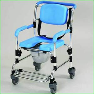 Ocean Wheeled Shower/ Commode Chair from Essential Aids