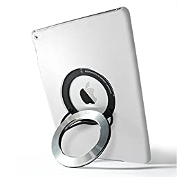 iPad Air 2 Case, Rolling Ave. iCircle [Built-in Aluminum Ring Holder Stand] Multi Angle 90 Degrees Rotating Portable Stand Case for iPad Air 2 - White Gloss