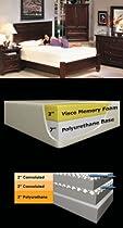 "Hot Sale SilverRest Sleep Shop 10"" Deluxe Memory Foam Mattress with Dual Airflow - Full Size"