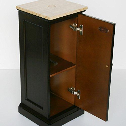 ... Sink Bowl Vessel Bathroom Vanity with Pedestal Cabinet, 12-Inch
