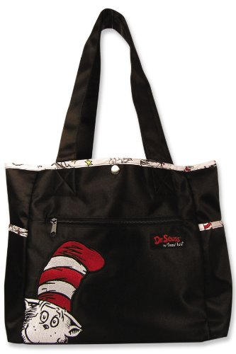 Trend Lab Dr Seuss Tulip Style Diaper Bag, Cat in The Hat