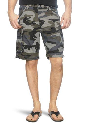 Bench Ironside Men's Shorts Black Ink Camo W28 IN