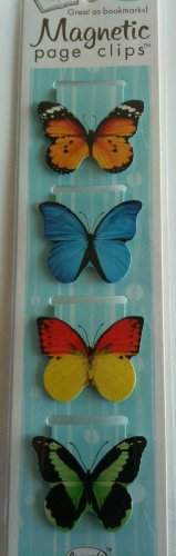 Butterflies Magnetic Page Clips Set of 4 By Re marks