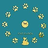 (Bidear)特別なエコ 猫の爪掛け時計壁飾り 部屋装飾 ウォールステッカー おしゃれ ! 創新なデザイン 壁飾り壁掛け デザイン かわいいねこの掛け時計