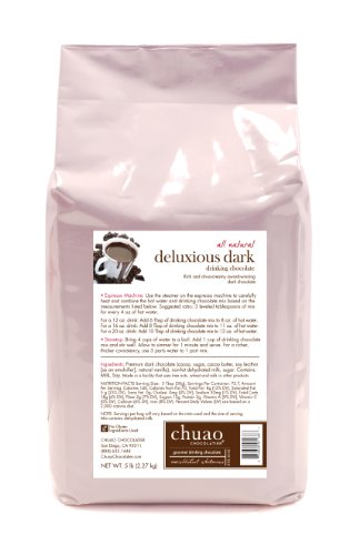 Chuao Chocolatier Deluxious Dark Drinking Chocolate 5lbs. Bulk Bag (Chocolatier Wine compare prices)
