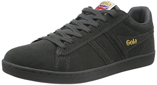 Gola Men's Equipe Suede Fashion Sneaker, Graphite/Graphite, 10 UK/11 M US