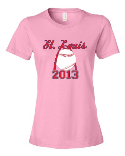 St Louis 2013 World Series Baseball Tee Shirt Womens XXL pink N at Amazon.com