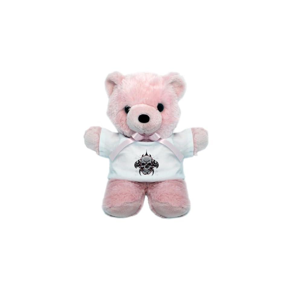 Teddy Bear Pink Tribal Skull
