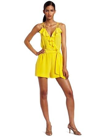 Charlie Jade Womens Grenada Romper, Yellow, Small