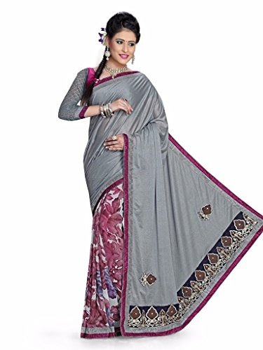 Yashoda Textile Multi Color Georgette Printed And Border Work Sarees With Un-Stitched Blouse Piece (Y.S_682_Multi)