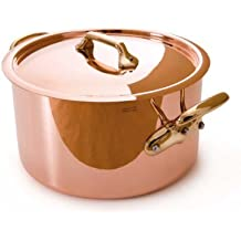 Mauviel Made In France M'Heritage Copper M150B 6505.24 6-Quart Stockpot With Lid And Bronze Handles