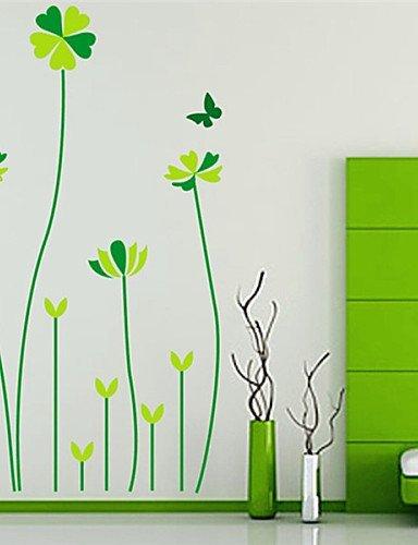 XF-Stickers-muraux-Stickers-muraux-Lucky-Cinq-herbe-en-PVC-Stickers-muraux