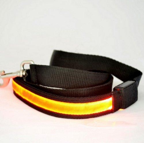 Goliton® Led Light Lead Dog Pet Leash Rope Harness Belt -Yellow Light