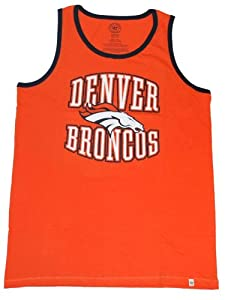 Denver Broncos 47 Brand Orange Faded Sleeveless Cotton Tank Top T-Shirt by