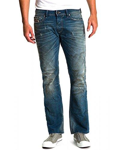 DIESEL - Jeans da Uomo NEWFANKER 801B - Regular Slim - Bootcut - Non Stretch - blu, W30 / L34