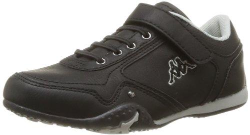Kappa Boys' Styko Kid Elastic Velcro Trainers Black Noir (Black/Lt Grey) 33
