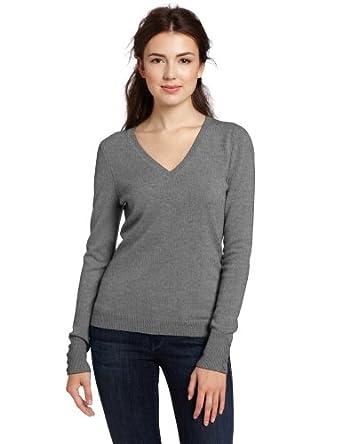 (狂降)美国Christopher Fischer 100% Cashmere V-N 女子纯色V领纯羊绒衫8色$74.93