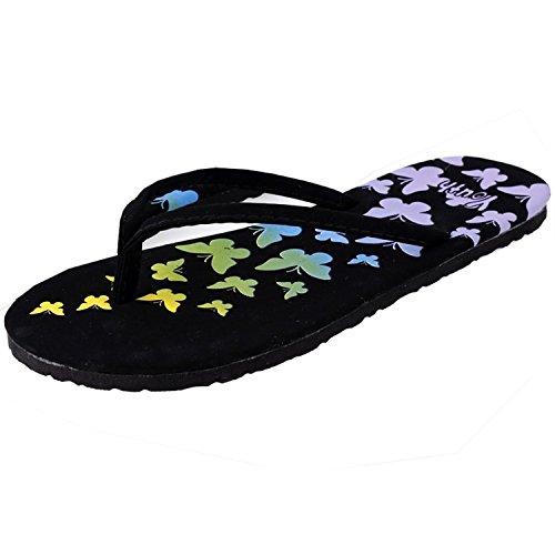 Minetom Donna Flat Flip Flops Slim Infradito e ciabatte da spiaggia EUROPE Taglia ( Farfalla EU 38 )